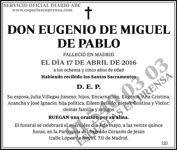 Eugenio de Miguel de Pablo